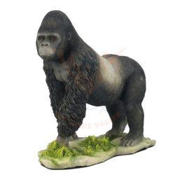 Ezüsthátú gorilla szobor