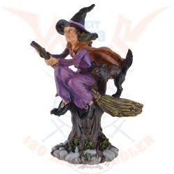 Boszorkány lovagol a seprűn