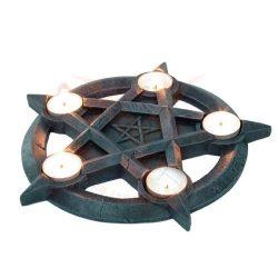 Pentagrammos mécsestartó