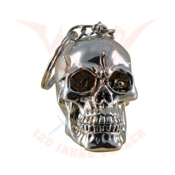 Ezüst színű koponya kulcstartó