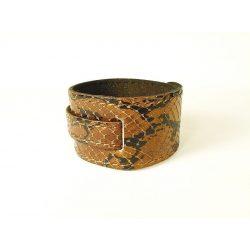 Kígyó mintás Bőr karkötő
