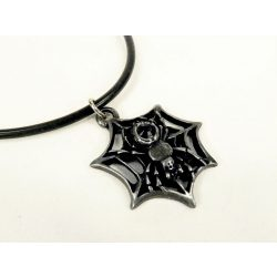 Fekete Özvegy nyaklánc Swarovski kristállyal