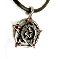 Dupla pentagram nyaklánc Swarovski kristállyal