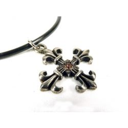 Anjou lily cross pendant