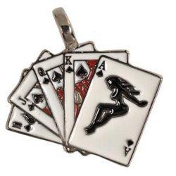 Rockabilly kártya nyaklánc