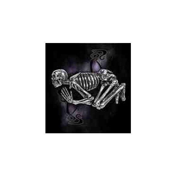 Hódolat csontváz övcsat