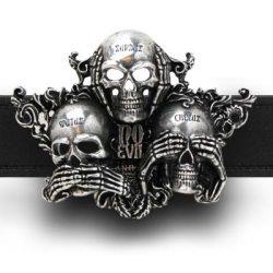 No Evil belt buckle