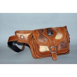 Belt bag with sanke skin