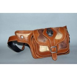Belt bag with sanke skin