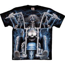 Blue Skeleton Rider póló