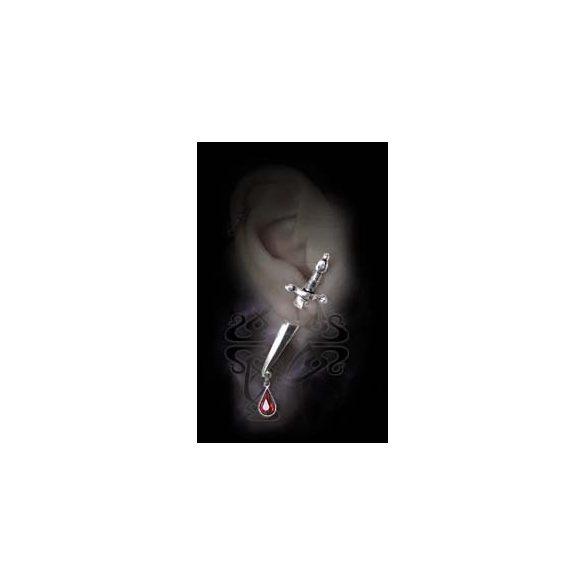 Vércseppes tőr fülbevaló (db)
