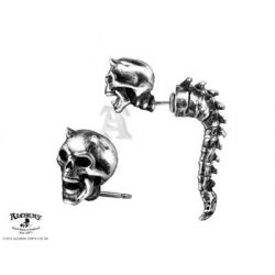Csigolyás démon piercing fülbevaló / db