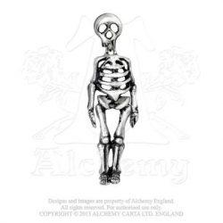 Csontváz fülbevaló/db