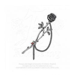 Láncos rózsa fülbevaló/db