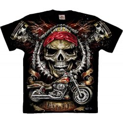 Born To Ride Skull póló