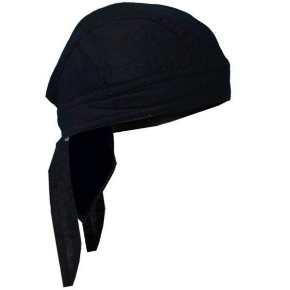 Fekete vászon fejkendő