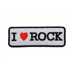 I love rock felvarró