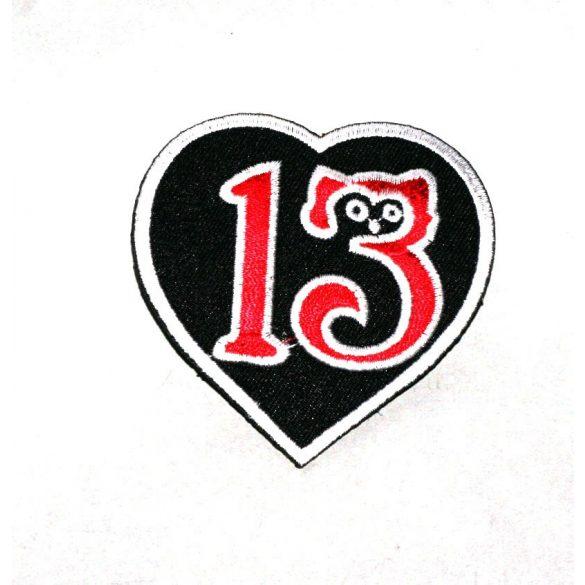 Rockabilly 13-as felvarró