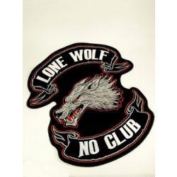 Lone Wolf No Club felvarró