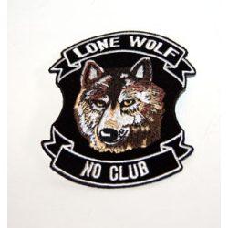 Lone Wolf No Club kis felvarró