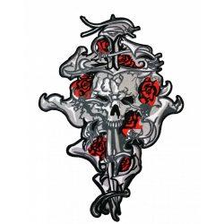 Rózsás koponya felvarró