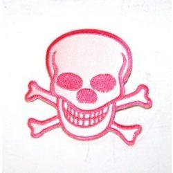 Rózsaszín csontos koponya felvarró