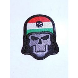 Skull with Hungarian flag