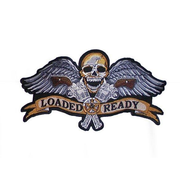 Loaded Ready szárnyas koponya felvarró