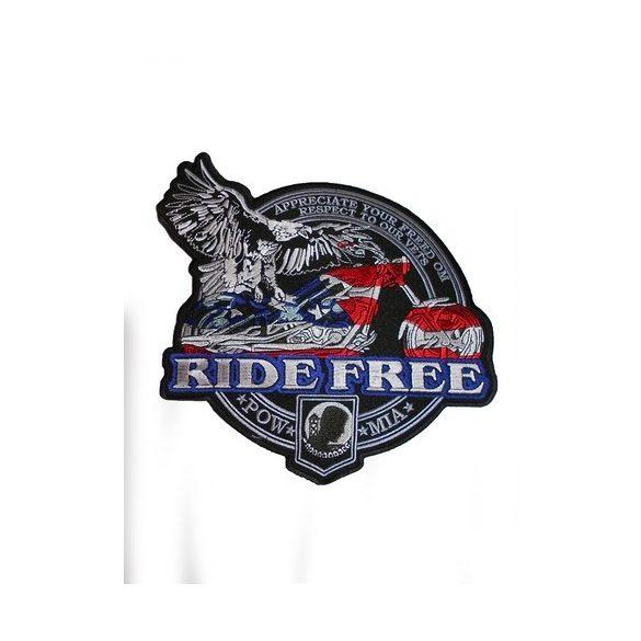 Ride Free /Pow Mia felvarró