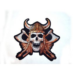 Koponya vikingfej felvarró