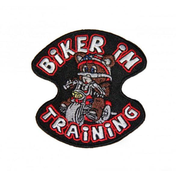 Biker in Training felvarró