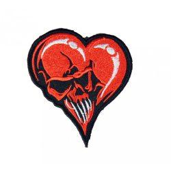 Koponyás szív felvarró