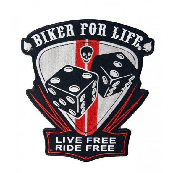 Biker for life felvarró