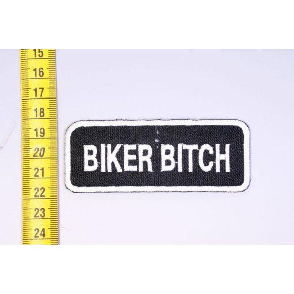 Biker bitch felvarró