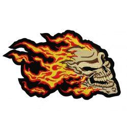 Lángoló koponya felvarró