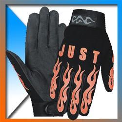 Leather-textil mechanic gloves