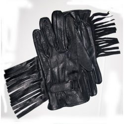 Tufted leather gloves