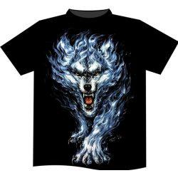 Flaming Wolf póló