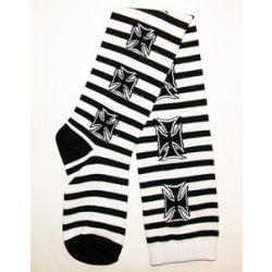 Rockabilly mintás hosszú szárú zokni
