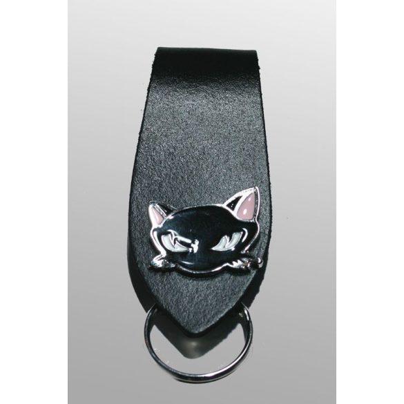 macskás kulcstartó