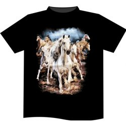 Running Horses póló