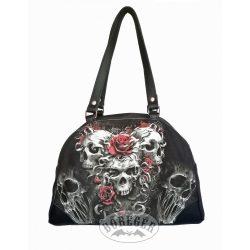 Öt koponyás rózsás női táska