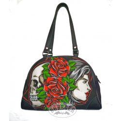 Koponyás rózsás női táska
