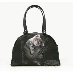 Alvó cicás női táska