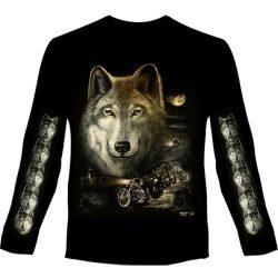 Wolf Night Riders hosszú ujjú póló