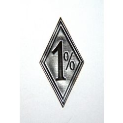 1 % metal sticker