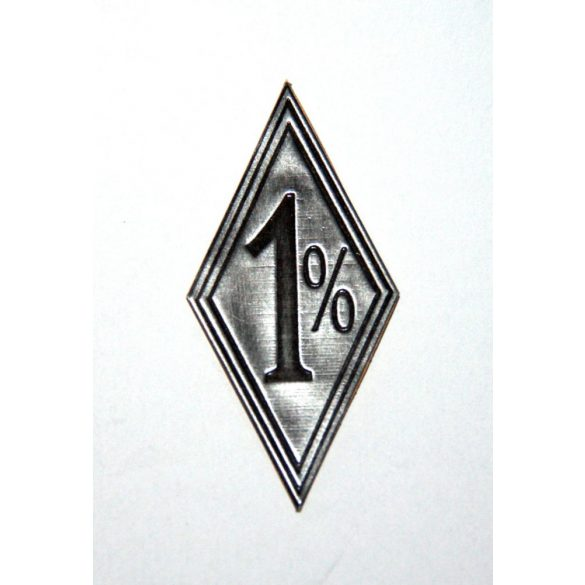 1 % metal sticker