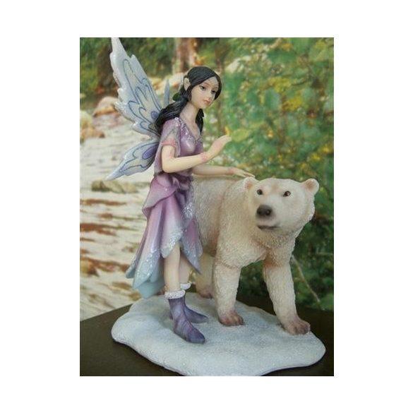 Tündér szobor jegesmedvével