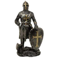 Keresztes lovag ezüst-bronz színű harci fejszével
