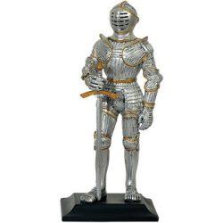 Lovag szobor karddal és pajzzsal